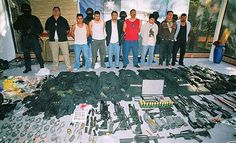 Seized weapons from the Mexican Drug Cartel