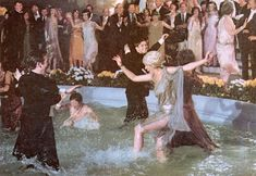 """Gatsby's parties then. 