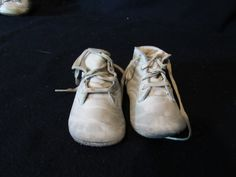Vintage Pair Baby Shoes Walking Leather Suede by ThenForNow