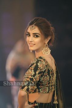 looked stunning in theses beautiful designer dresses in a latest event of a friend We at Mizz Noor presents these pictures for inspiration. Get inspired and let us create something like this with in your budget. Ready to attend your next or in ? Saree Hairstyles, Indian Wedding Hairstyles, Bride Hairstyles, Tikka Hairstyle, Maya Ali, Bridal Outfits, Bridal Dresses, Bridal Hair Buns, Pakistani Bridal