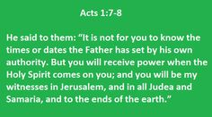 Acts 1:7-8