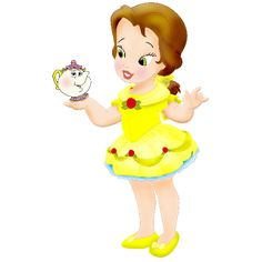 Nazare Clipart Clipart Vbs - Baby Belle Beauty And The Beast Disney Princess Babies, Disney Babys, Princess Cartoon, Baby Princess, Cute Disney, Disney Art, Disney Pixar, Enchanted Movie, Baby Disney Characters