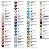 Quick Reference color chart for Create Your Style with SWAROVSKI ELEMENTS