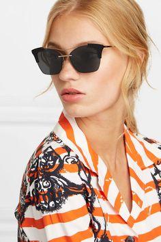 d15dd4abf2e Prada - Cat-eye acetate and gold-tone sunglasses