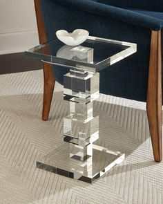 Shop Petite Duchess Crystal Cube Side Table from John-Richard Collection at Horchow, where you'll find new lower shipping on hundreds of home furnishings and gifts. Marble End Tables, Mirrored Coffee Tables, Lucite Furniture, Find Furniture, Crystal Furniture, Resin Furniture, Modern Furniture, Luxury Home Decor, Luxury Homes