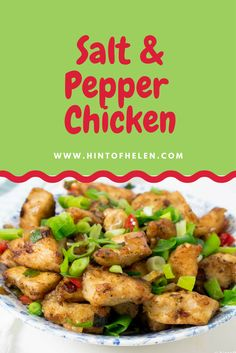 Quick and easy recipe for to delicious takeaway style Chinese battered salt and pepper chicken at home, using five spice, salt and pepper.