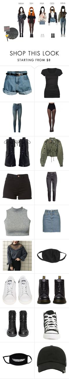 """""""D:FI Concert at Busan!"""" by ariaofficial ❤ liked on Polyvore featuring Retrò, Active, BLK DNM, Pretty Polly, Zimmermann, H&M, Club L, Topshop, adidas and Dr. Martens"""