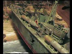 Beached PT Boat Diorama
