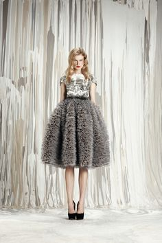 exaggerated ruffle skirt