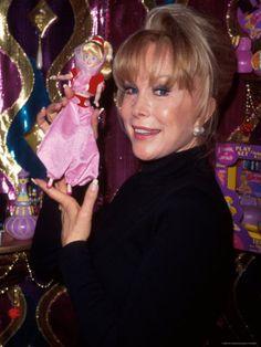 Barbara Eden and Jeannie doll.....