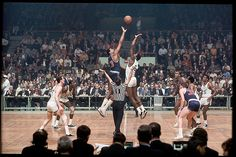 Wilt Chamberlain (Philadelphia 76ers) and Bill Russell (Boston Celtics) (1966) by Walter Iooss Jr.