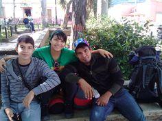 con mi hermano y mi novio