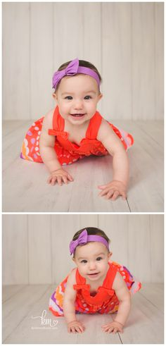 9 month old girl - poses for 9 month old - crawling baby photography