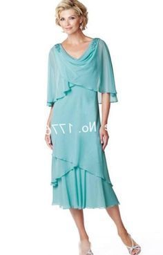 649d5e1f7683 Summer Plus Size Dresses Mother Bride Beach Wedding Party Dress Chiffon Tea  Length Mother of the