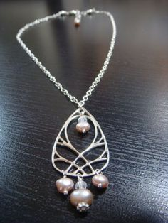 Pearl and Sterling Silver Weave Necklace