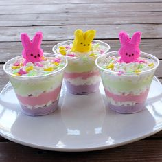 Healthy Easter Treat: layered yogurt