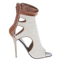 Giuseppe Zanotti Zip-Back High-Vamp Crisscross Sandal ❤ liked on Polyvore featuring shoes, sandals, back zip sandals, evening sandals, special occasion sandals, special occasion shoes and evening shoes