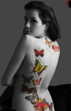 Beautiful Butterfly Tattoos Designs For Girls