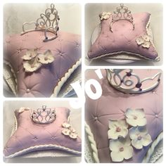 Princes cake , pillow cake fondant cake , cake design