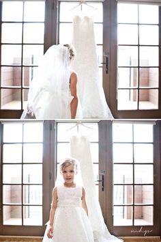 Flower girl. Bridal prep photography. Wedding photography inspiration. Bride dress