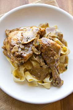 Chicken & Artichokes In Wine Sauce Recipe — Dishmaps