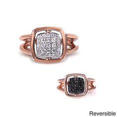 Annello  Nitez N Daze 14k Rose Gold 1/2ct TDW Diamond Two-sided Ring (G-H, I1-I2)