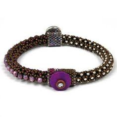 Bead Kits-Circle Of Gems Summertime-Single Bracelet Kit-Amethyst-Pattern Sold Separately