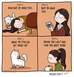 "Relatable Cat Comics For Feline Owners & Appreciators - Funny memes that ""GET IT"" and want you to too. Get the latest funniest memes and keep up what is going on in the meme-o-sphere. I Love Cats, Cute Cats, Funny Cats, Funny Animals, Crazy Cat Lady, Crazy Cats, Cat Memes, Funny Memes, Cat Comics"