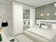 """2,721 curtidas, 58 comentários -  Interiores e Arquitetura (@criarinteriores) no Instagram: """"Mais um pouco desse quarto que ficou muito fofo, criamos uma penteadeira para a make, acoplado ao…"""" Bedroom Comforter Sets, Home Room Design, Bedroom Decor Design, Home Office Decor, Bedroom Closet Design, Luxurious Bedrooms, Bedroom Inspirations, Room Decor Bedroom, Bedroom Layouts"""
