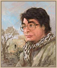 Mahmoud Darwish (13 maart 1941 - 9 augustus 2008) - Portret door Avi Katz, z.j.