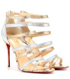 Christian Louboutin Glitter-sandalen Mariniere 100 auf shopstyle.de