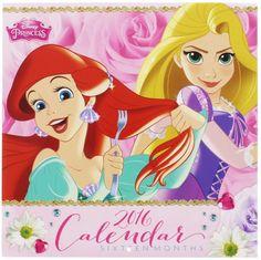 Disney Princesses 12 Month 2016 Wall Calendar Perfect Children's Wall Decor Medium Size Disney Princess 2016, Princess Wall Art, Kidsroom, Wall Decor, Room Decor, Gifts For Kids, 12 Months, Aurora Sleeping Beauty, Calendar