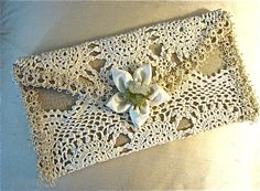 Vintage Lace and Tatted Clutch