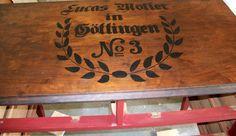Antique Red Dresser - Vintage German Label