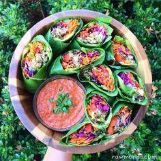 Spicy Mushroom Burritos + Bell Pepper Dipping Sauce (raw vegan)