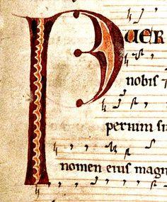 """P"". music page. Irish 12th cent. detail. bodl_Rawl.C.892 | by tony harrison"