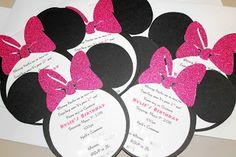 Minnie Mouse birthday ideas! Love the invite! Also the ears/headband idea! Super cute!! Abbie's 5th!