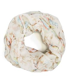 Another great find on #zulily! Cream Birds Infinity Scarf #zulilyfinds