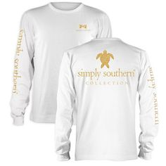 Simply Southern Preppy Gold Turtle Long Sleeve T-Shirt Available in sizes- Adult S,M,L,XL,2XL                                                                                                                                                                                 More