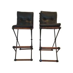 Image of Mid-Century Cleo Balden Bar Stools - A Pair