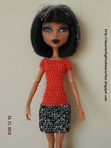 handmade Monster High clothes/ropa/kleidung/vêtements v112 (NOT DOLL)
