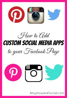 How to Add Custom Social Media Apps to your Facebook Page. Go from the plain, boring logos to ones in your brand color scheme within minutes!