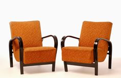 Art Deco inspired Czech style chairs. Made Circa 1930′s