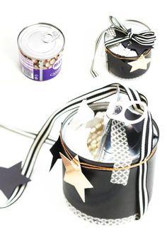 Konservendose zum Befüllen mit Geschenken / Tin to refill with presents