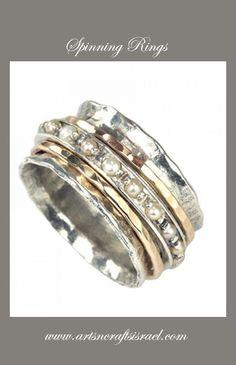 Beautiful Spinning Rings #SpinningRing #Ring #Gifts #Birthday - www.artsncraftsisrael.com - Support Israeli Artists