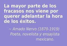 Amado Nervo (1870-1919) Poeta, novelista y ensayista mexicano.  #citas #frases