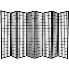 $150 Walmart Legacy Decor 8 Panel Japanese Oriental Style Room Screen Divider Black Color