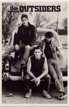 The Outsiders (1983) directed by Francis Ford Coppola, starring C. Thomas Howell, Matt Dillon, Ralph Macchio, Patrick Swayze, Tom Cruise, Rob Lowe  Diane Lane