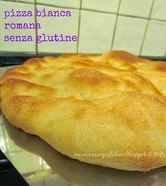 In cucina senza glutine ricette e cucina per celiaci: pizza bianca romana con il preparato per pane e pizza Molino Dalla Giovanna
