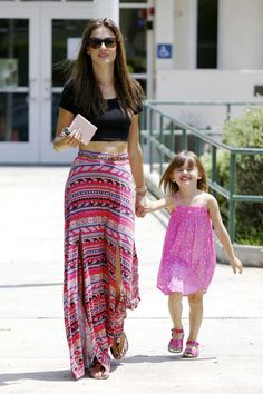 Alessandra Ambrosio and Anja are a pink duo in Santa Monica